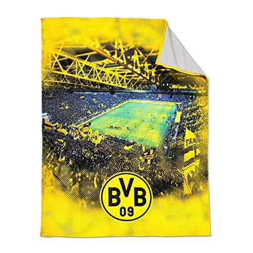 Borussia Dortmund, BVB-Fleecedecke mit Stadionprint, Mehrfarbig, 150x200cm