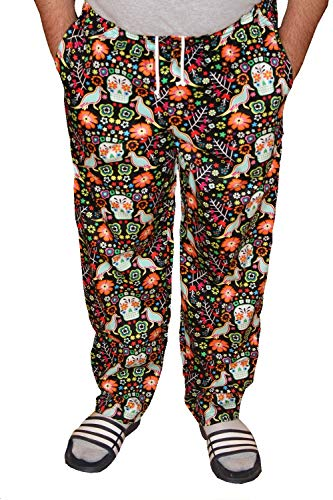 Mens Traditional 100% Cotton Baggy Chef Pant (Carnival, M)