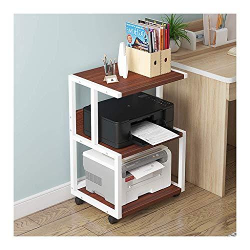 N/Z Home Equipment Printer Desktop Stands 3 Shelf Mobile Printer Stand Paper Organizer 3D Printer Media Cart with 4 Swivel Wheels Shelf w/Printer Shelf Stand (Color : Black b)