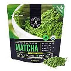 100% USDA Organic Matcha Green Tea Powder - Pure Shade-Grown Green Tea Leaves - All Natural, Nothing Added (naturally gluten free and vegan) Authentic Japanese Origin - sourced directly from organic farms in Uji and Kagoshima, Japan, allowing us to p...