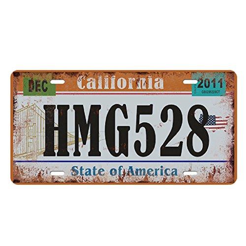 Baoblaze USA Kennzeichen Metall Blechschilder Schild Plakette für Cafe Bar Tür - Kalifornien