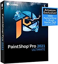 Corel PaintShop Pro 2021 Ultimate | Photo Editing & Graphic Design Software Plus Creative Collection | Amazon Exclusive 5-Brush Starter Pack [PC Disc] [Old Version]