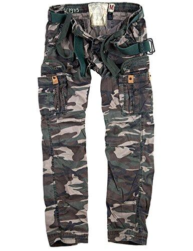 Surplus Raw Vintage Herren Slimmy Hose Premium Trousers, Woodland, L