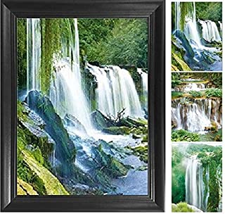 Nature Waterfall 3D Poster Wall Art Decor Framed Print   14.5x18.5   Lenticular Posters & Pictures   Memorabilia Gifts for Guys & Girls Bedroom   Beautiful Landscape Mountain Scenery & Forest Artwork