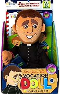 Wee Believers Father Juan Pablo 13 Inch Plush Vocation Doll with Story Booklet Gift Set