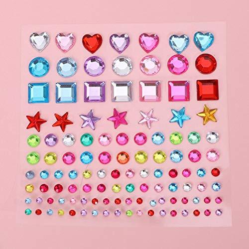 PMSMT Pegatina de Diamante Brillante, Cristal acrílico, papelería Bonita, Pegatinas de decoración DIY Coloridas, álbum de Recortes para niños y niñas