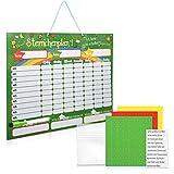 Navaris Pizarra magnética Comportamiento - Tabla de recompensa para niños para Aprender alemán - Magnética con 250 imanes