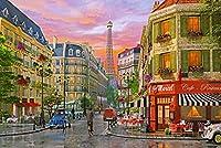 ジグソーパズル大人5000個パリのストリートシーン余暇家の装飾クリエイティブアート105 * 181cm