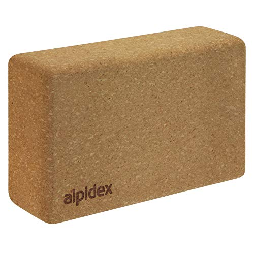 ALPIDEX Bloque de Corcho Yoga Block Cork Ladrillo Natural Bl
