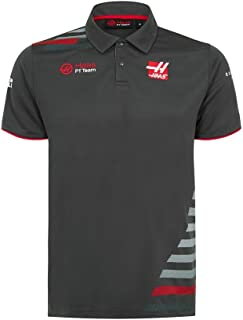 American Team Formula 1 Authentic 2018 Men's Team Gray Polo (2XL)