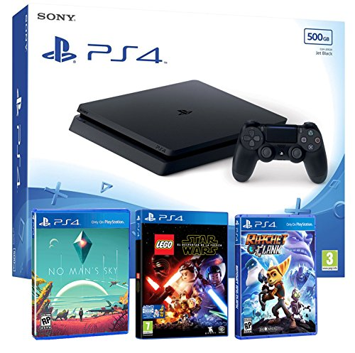 Console PlayStation 4 Packs mit Spiele Slim 500Gb 500Gb - Pack Infantil 3 Juegos - PEGI 7