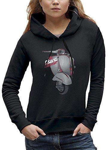 PIXEL EVOLUTION Sudadera con Capucha Classic Scooter Mujer - tamaño XXL - Negro