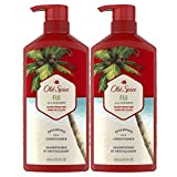 Old Spice Fiji 2in1 Shampoo and Conditioner for Men, Twin Pack, Coconut, 44 Fl Oz