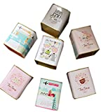 Panda Legends Caja de Almacenamiento de té de 4 Cajas de Lata cuadradas Estuche de Dulces/té/azúcar Modelado (Estilo Aleatorio)