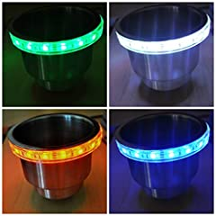 Color Changing. These rings are made with high quality WATERPROOF SMD LEDs. These are the brightest LEDs available, which are backed by our TEN YEAR WARRANTY* Rings are made to be installed between the Cup holder and Carpet or surface of the boat. DO...