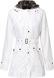 736a1809ec1 MODOQO Women s Pea Coat Cotton Hoodies Parka Zipper Jacket Outwear Overcoat