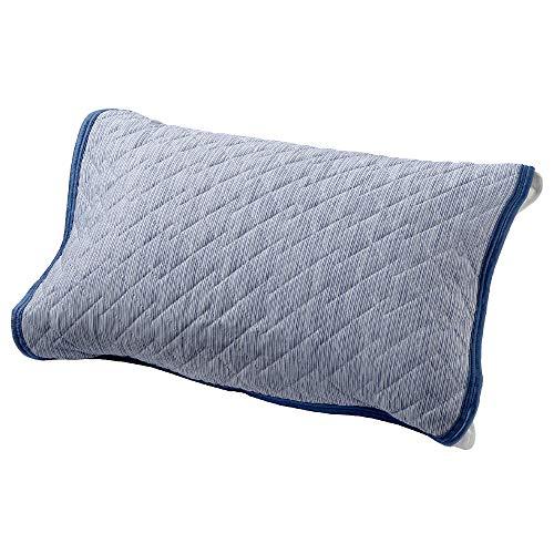 【Amazon.co.jp 限定】 西川 SEVENDAYS クール 枕パッド 63×43cmのサイズの枕に対応 洗える ひんやり 接触冷感 ゴム付き さらっとさわやか セブンデイズ ネイビー CM71014507860