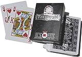 SPOT GAMES Cartes Poker 100% Plastique Titanium + Cut Card Noir 150B