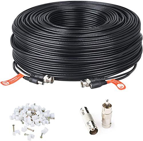 100ft 30M BNC Video Cable de alimentación Cable de Cable de la cámara de Seguridad para el Kit de vigilancia y Seguridad C