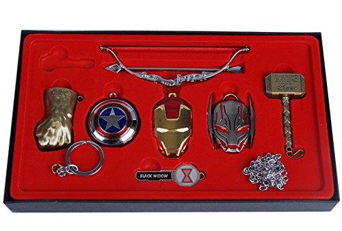 The Avengers Schlüsselanhänger-Set Bronze - Hulk, Thor, Iron Man, Hawkeye - 7 Teile