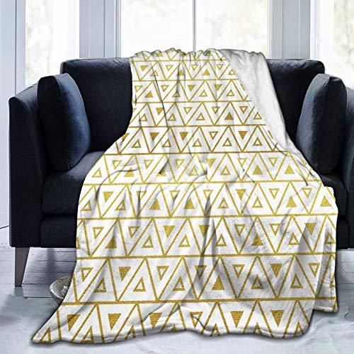 PANILUR Manta de Franela Suave,Diseño geométrico de triángulos con Estilo Chevron Zig Zag,Cama de Camping para sofá 204x153cm
