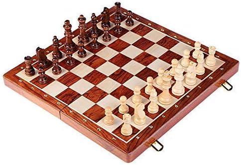 Translated LURUZA Chess Set International Wooden Large Folding Over item handling ☆