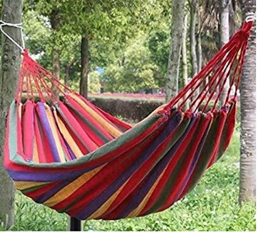 Silla Hamaca Hamaca portátil cubierta al aire libre con la bolsa de almacenamiento Hamaca Columpio para la terraza del amortiguador de la cama colgante del árbol de acampada que va de excursión Back