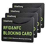 RFID Blocking Card, Fuss-Free Protection Entire Wallet & Purse Shield, Contactless NFC Bank Debit Credit Card Protector Blocker (Green)