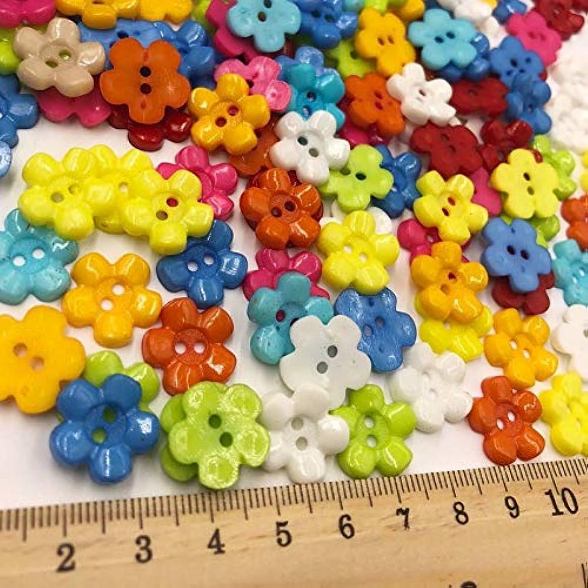 旅行安心させる標準Jicorzo - ミックス新梅14ミリメートルのプラスチックボタン/裁縫ロット[50個] 2holes