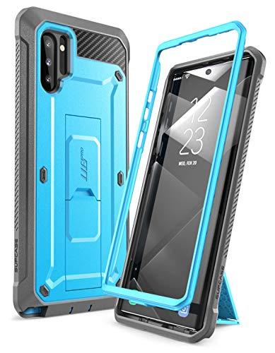 SupHülle Handyhülle für Samsung Galaxy Note 10 Hülle Outdoor Hülle Bumper Schutzhülle Robust Cover [Unicorn Beetle Pro] OHNE Bildschirmschutz mit Gürtelclip & Ständer 6.3 Zoll 2019 Ausgabe (Blau)