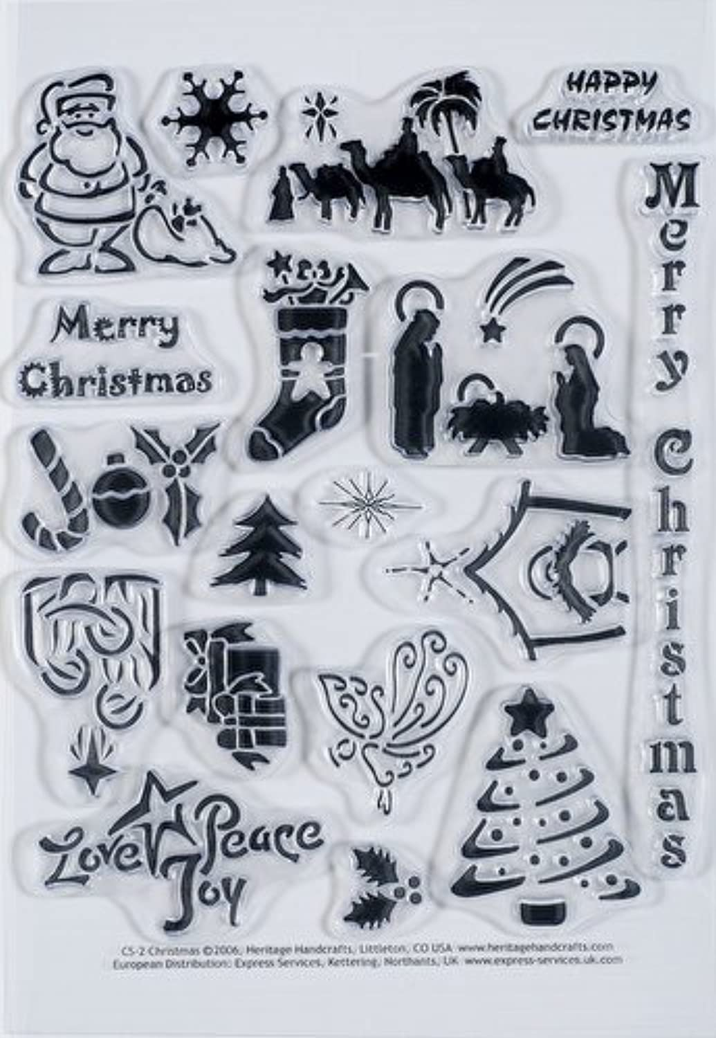 Clearly Clearly Clearly Heritage Exchangeable Clear Stamps - Christmas B0071GRAMM | Zart