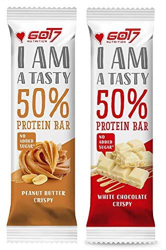GOT7 50% Protein Bar 60g - Protein Riegel ohne Zuckerzusatz - Low Sugar Eiweißriegel - Fitness Riegel (Mix Box, 20 x 60g)