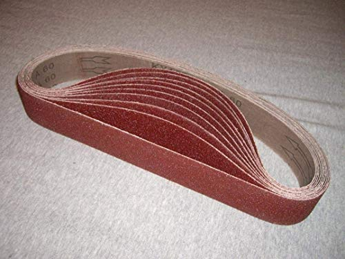 "1-1/2"" x 30"" Aluminum Oxide Sanding Belt, 120 Grit, 20 Pack, for pipe tube polisher sander grinder fits Metabo Roxx Tools"