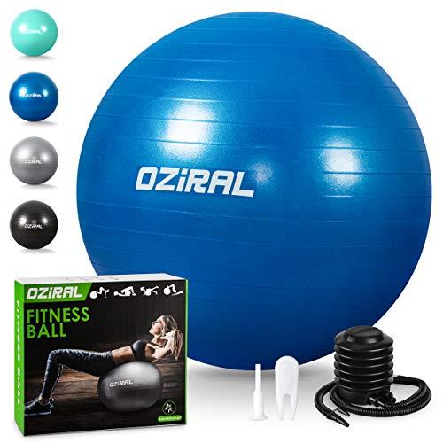 Oziral Pelota de Pilates 55cm,Anti-Burst Fitball Pilates Pelota para Yoga, Ejercicios, Gimnasia,...