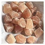 YSJJDRT Cristal Natural Rugoso Naranja Sal Crudo Cristal Piedras Piedras Preciosas Natural Cuarzo minerales Cristal peceras y Acuario decoración Moderna (Color : 20-40mm, Size : 200g)