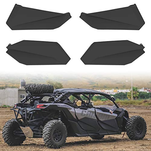 Lower Doors Kit for Can-Am X3 Max, SAUTVS Lower Door Inserts Panels with Built-in Metal Frame for Can Am Maverick X3 Max RS DS 2017-2021 Accessories (4 Doors, Front & Rear)