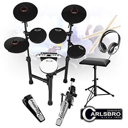 Carlsbro CSD130 R Electronic Drum Kit 8 Piece MIDI Sticks, Headphones,...