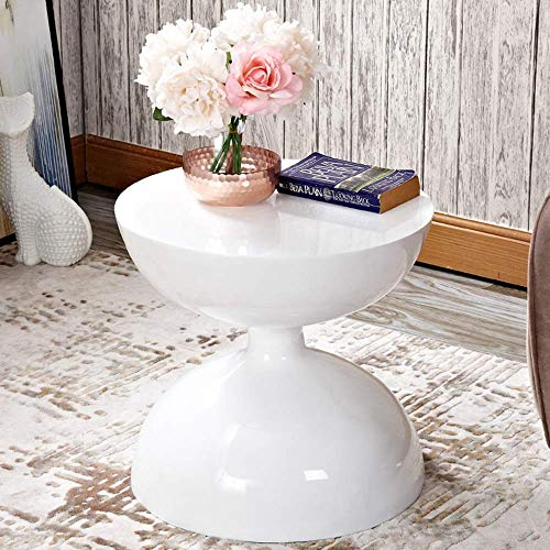 zvcv End Tables Sofa Side Table Fashion Creativity Living Room Coffee Table Bedroom Bedside Table Circular Table 43.5 * 41.5CM (Color : D) (Color : D)