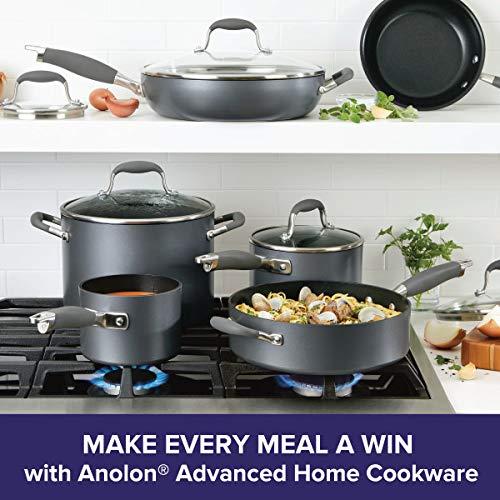 Anolon Advanced Home Hard-Anodized Nonstick 11-Piece Cookware Set (Moonstone)