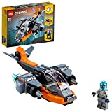 LEGO 31111 Creator 3en1 Ciberdrón Set de Construcción con Cibermeca y Cibermoto, Juguetes Espaciales para Niños a Partir de 6 Años