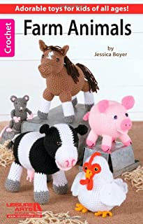 Farm Animals-For Kids of all ages, 6 Easy+ Skill Level Designs to Create Cute Collectibles or Playtime Pals