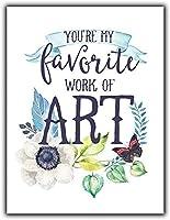 ナンシーグレートティンサインアルミあなたは私のお気に入りの芸術作品です屋外屋内サイン壁の装飾