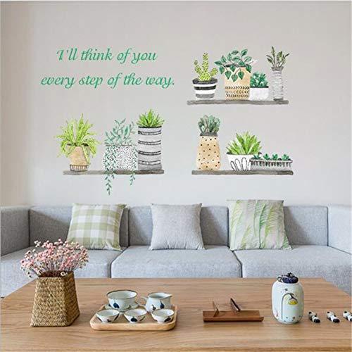 UDPBH 1Pc Muurstickers Diy verse plant Potted Slaapkamer Kast Woonkamer Wanddecoratie Voor Home Office 45 * 60Cm