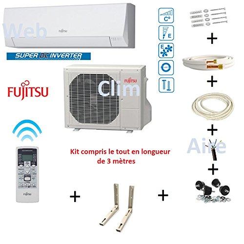professionnel comparateur Climatiseur Atlantic Fujitsu ASYG 12 KPCA – Kit 3m choix