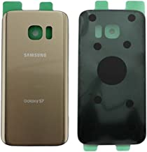 OEM Original Back Glass Cover Battery Door Replacement For Samsung Galaxy S7 G930 Two Logos (Gold)
