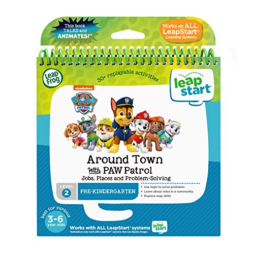 LeapFrog LeapStart 3D Around Town with PAW Patrol Book, Level 2