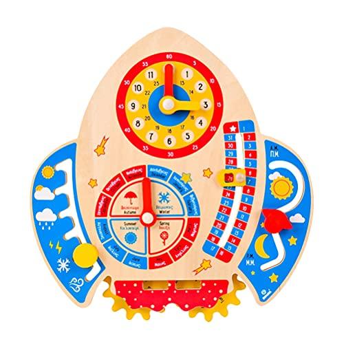 TOYANDONA 1 PC Fogo De Madeira Seta Brinquedo Kid Relógio Brinquedo Calendário Educacional Plaything