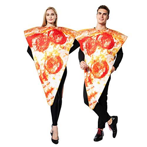 EraSpooky Disfraz de Pizza de Comida Unisex Disfraces Fiesta de Halloween Traje Divertido para Adultos Hombres Mujeres