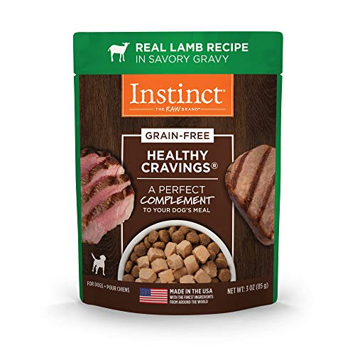 Nature's Variety Instinct Healthy Cravings Grain Free Real Lamb Recipe Natural Wet Dog Food Topper, 3 oz. Pouches (Case of 24)