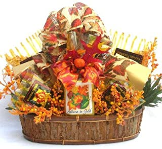 Gift Basket Village - Autumn In Gold Gift Basket With The Colors And Flavors Of Fall